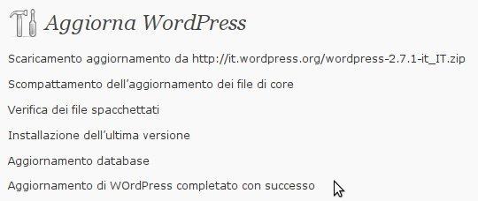Aggiornamento WordPress 2
