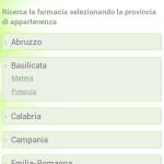 Home Page Mobile: selezione regione/provincia