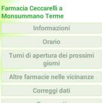Scheda farmacia versione mobile